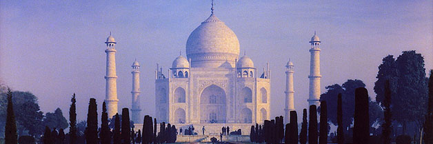 Early morning at Taj Mahal