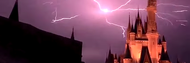 Lightning Strikes Over Cinderella's Castle