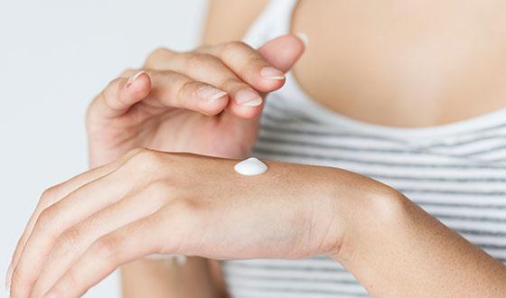 cream hand skincare