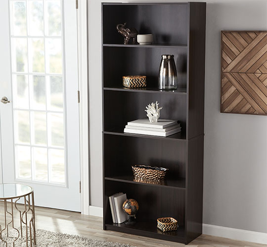 Mainstays 5-Shelf Bookcase