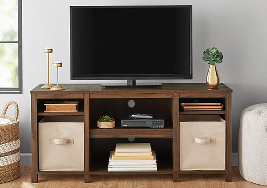 mainstays cubby tv stand