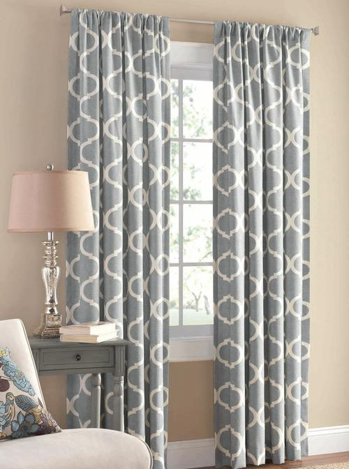 mainstays ironwork curtain panel